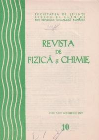 Revista de Fizica si Chimie, Octombrie 1987