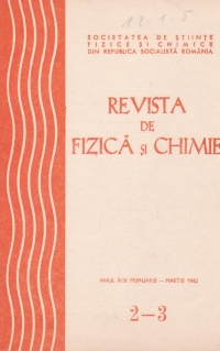 Revista de fizica si chimie, anul XIX februarie-martie 1982
