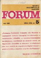 Revista Invatamintului Superior - Forum, Nr. 5/1981