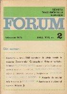 Revista Invatamintului Superior - Forum, Nr. 2/1975