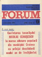 Revista Invatamintului Superior - Forum, Nr. 9/1981