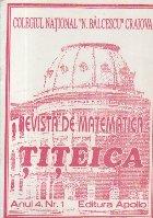 Revista de matematica Titeica, Anul 4, Nr. 1