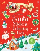 Santa sticker and colouring book