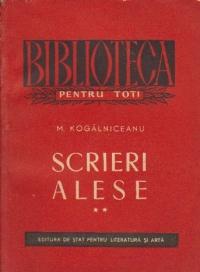 Scrieri alese, Volumul al II-lea - Scrieri istorice si sociale