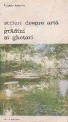 Scrieri despre arta gradini si ghetari