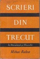 Scrieri din Trecut, Volumul al III-lea - In literatura si filozofie