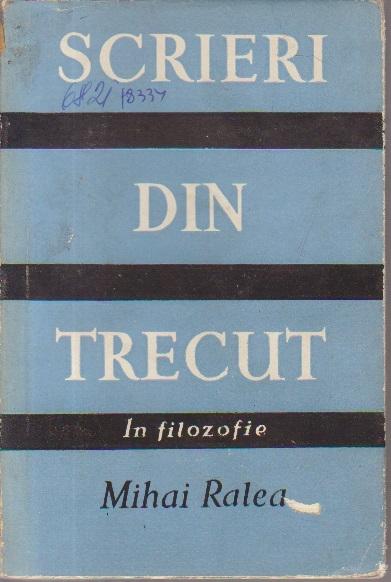 Scrieri din Trecut, Volumul al II-lea - In filozofie