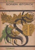 Scrieri istorice,Volumul I