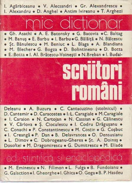 Scriitori romani (Mic dictionar)
