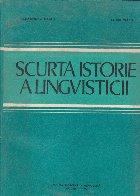 Scurta istorie lingvisticii (editia III