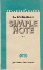 Simple note, Volumul al II-lea