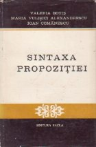Sintaxa propozitiei - Texte si analize