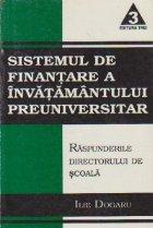 Sistemul finantare invatamantului preuniversitar Raspunderile
