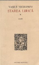 Starea lirica, II, Eseuri