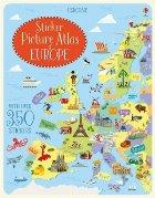 Sticker picture atlas Europe