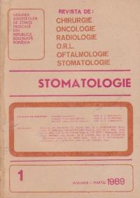 Stomatologia - Revista a societatii de stomatologie, Ianuarie-Martie 1989