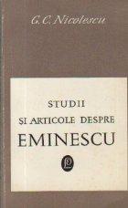 Studii si articole despre Eminescu