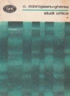 Studii critice, volumul I