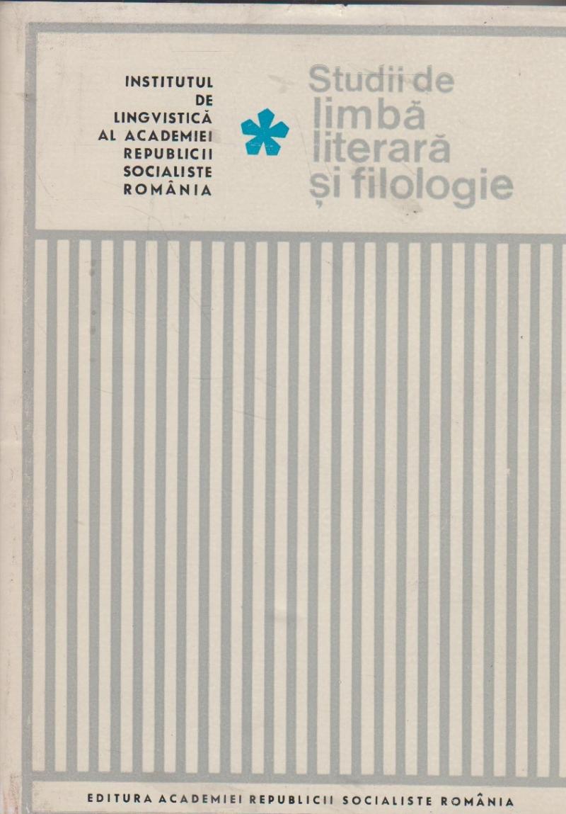 Studii de limba literara si filologie