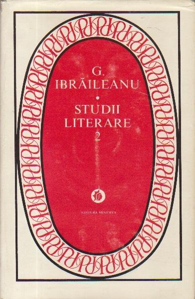 Studii literare, 2 - G. Ibraileanu