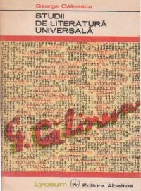 Studii de literatura universala