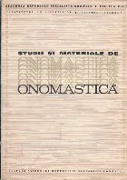 Studii si Materiale de Onomastica