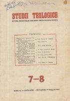 Studii Teologice Revista Institutelor Teologice