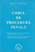 Supliment Codul Procedura Penala