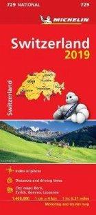 Switzerland 2019 - Michelin National Map 729