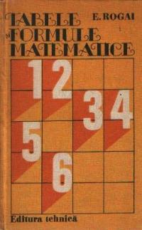 Tabele si formule matematice