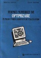 Tehnici numerice de optimizare in proiectarea asistata de calculator