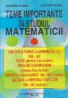 Teme inportante in studiul matematicii