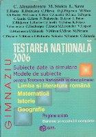 TESTARE NATIONALA 2006 (Limba literatura
