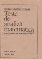 Teste de analiza matematica pentru admiterea in invatamantul superior