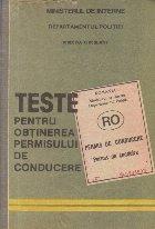Teste pentru obtinerea permisului de conducere auto