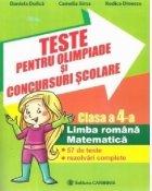Teste pentru olimpiade concursuri scolare