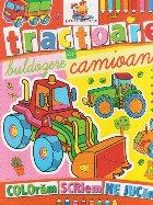 Tractoare, buldozere si camioane - Carte de colorat
