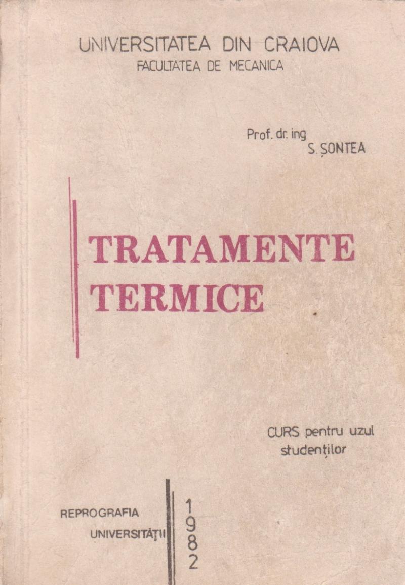 Tratamente termice - Curs pentru uzul studentilor
