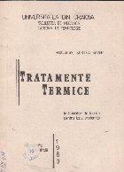 Tratamente termice - Indrumator de lucrari pentru uzul studentilor