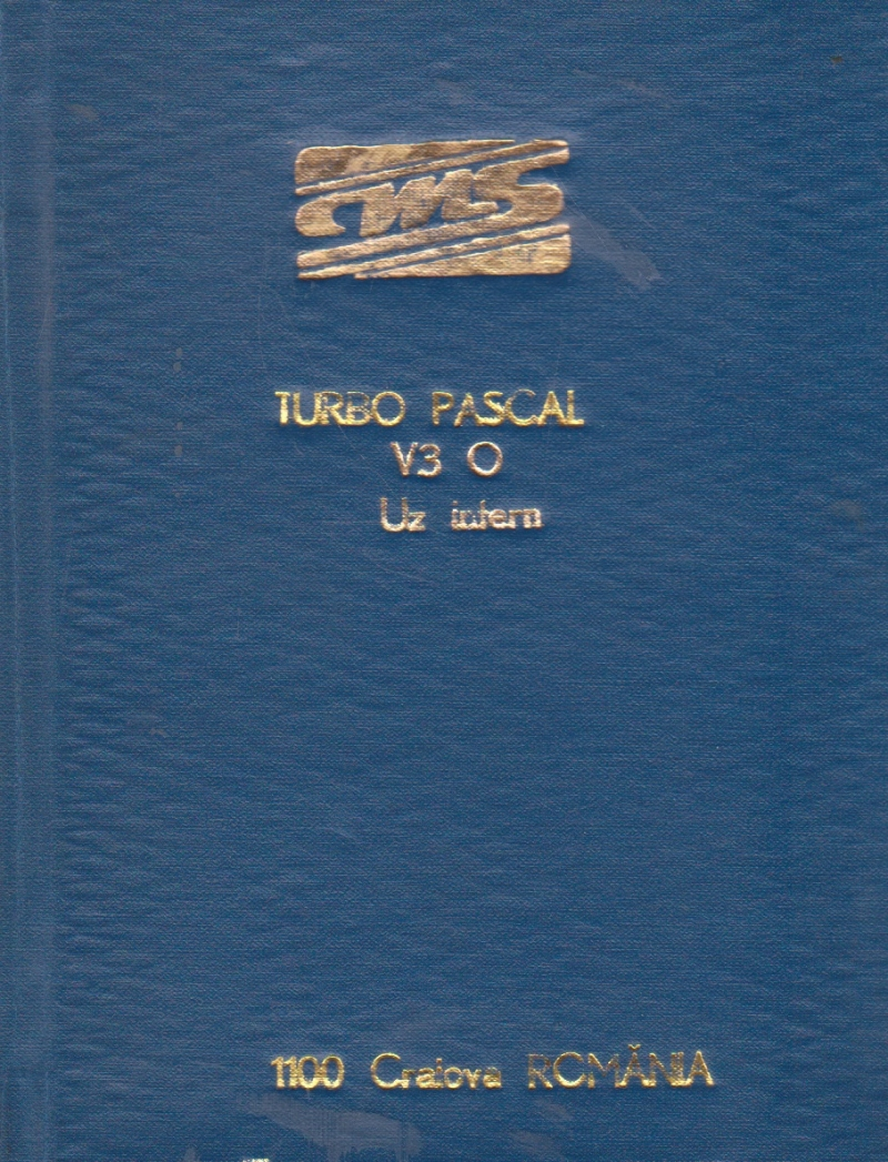 TURBO PASCAL V3.0 - Reference Manual