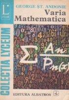 Varia Mathematica, Editia a II-a revazuta