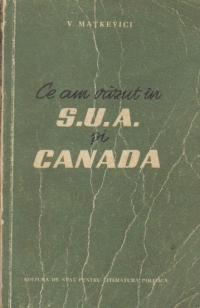 Ce am vazut in S.U.A. si Canada