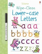 Wipe-clean lower-case letters