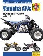 Yamaha Yfz450/450r Atv, 2004-2017 Haynes Repair Manual